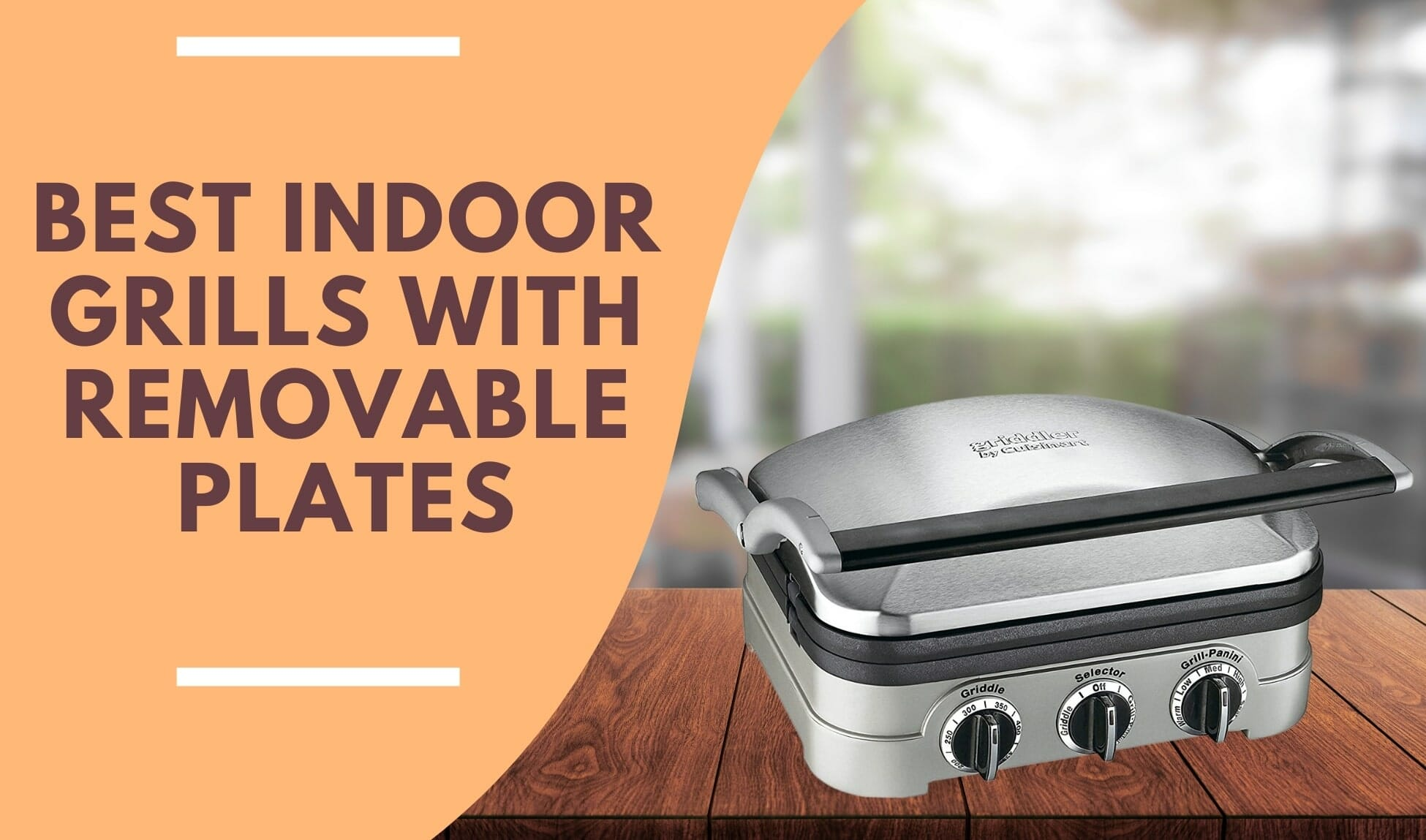 best indoor grill with removable plates