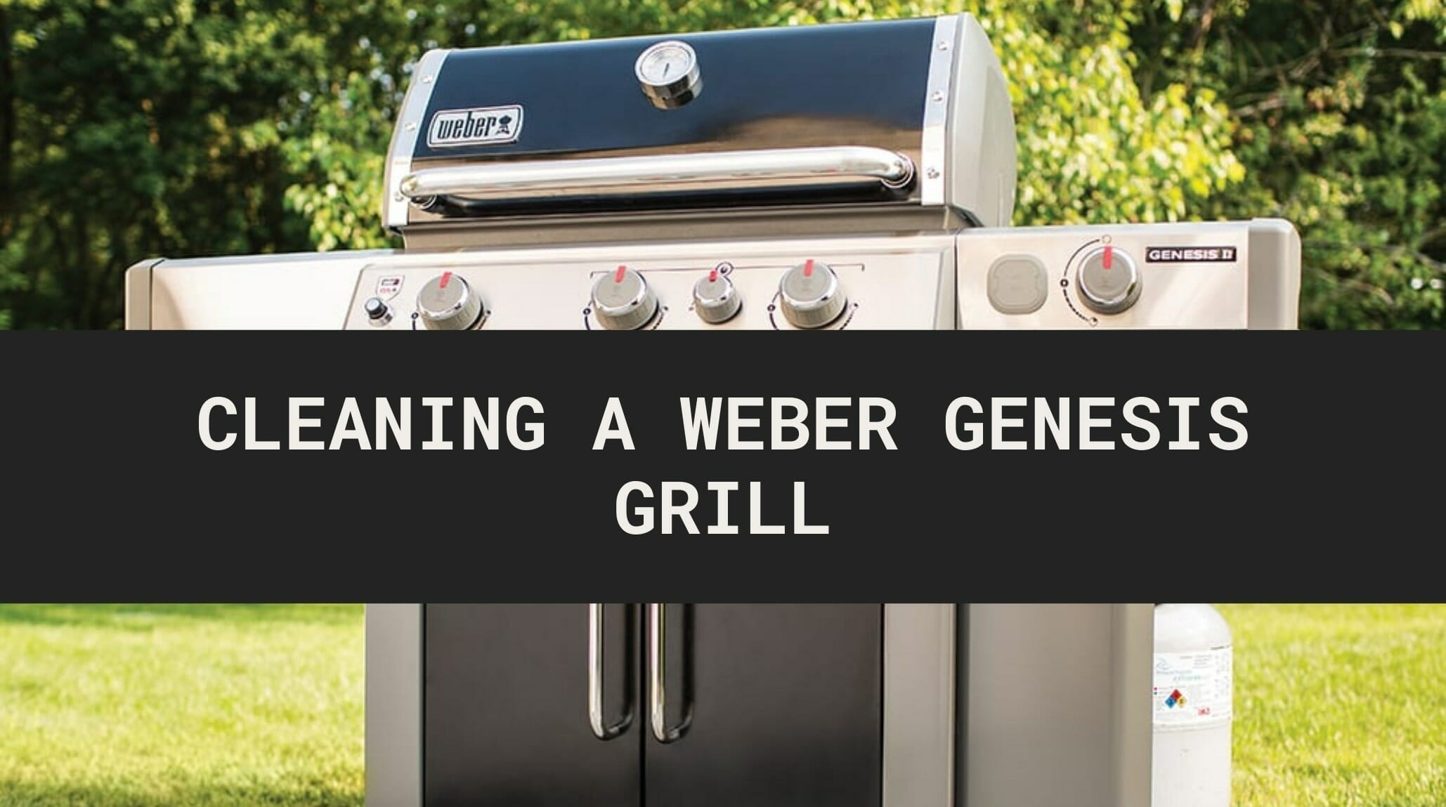 how to clean weber genesis grill