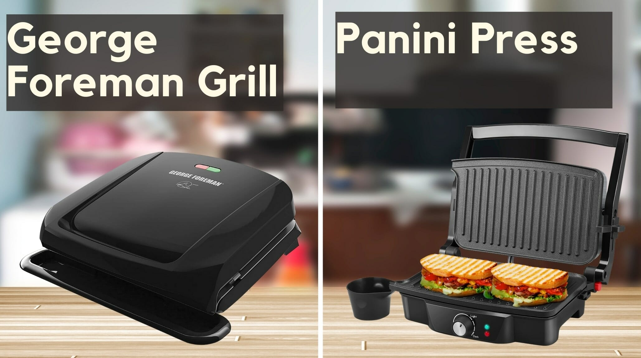 george foreman grill vs panini press