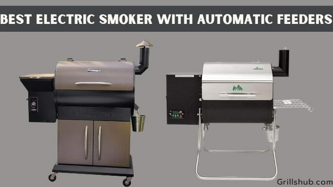 electric smoker with automatic feeders