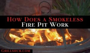 how does a smokeless fire pit work